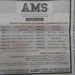المدراس النموذجية العربية